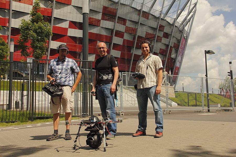 Oktokopter, TVP1 Euro 2012, Gajdziński, Drofiak